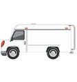 a white van on white background vector image vector image