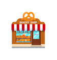 bakery store in flat style vector image