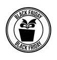 black friday sale commerce vector image vector image