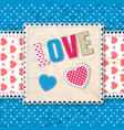 blue romantic multicolored composition vector image vector image