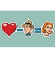 Broken heart minus man equals angry woman vector image vector image