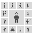 Business Man Activities Icons vector image vector image