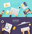 business teamwork flat banner business strategy vector image vector image