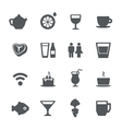 Cafe restaurant icons set vector | Price: 1 Credit (USD $1)