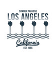 california los angeles t-shirt design with palm vector image vector image