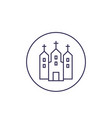 catholic church line icon vector image vector image