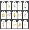 Christmas gift tags set vector image