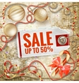 Christmas Poster Sale Typography EPS 10 vector image vector image