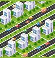 city boulevard isometric avenue transport car vector image
