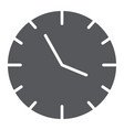 clock glyph icon time and hour watch sign vector image vector image