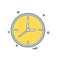 clock watch icon design vector image