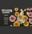 cosmetics product perfume advertising branding vector image