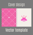 cover design with pink princess pattern vector image vector image