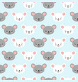 cute cartoon mouse seamless pattern background vector image vector image