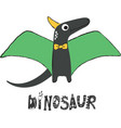 cute dinosaur stylized lettering vector image vector image