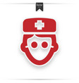 doctor icon isolated on white background vector image vector image
