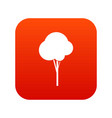 fluffy tree icon digital red vector image vector image