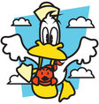 Fly Duck vector image