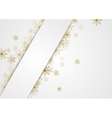 Golden glitter snowflakes Christmas corporate vector image