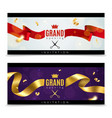 grand opening banners luxury festive invitation vector image vector image