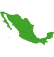 Green Mexico map vector image vector image