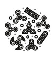 hand spinners icons set vector image vector image
