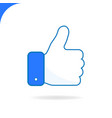 hand thumbs up line color icon vector image