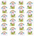 happy birthday happy unicorn gift seamless pattern vector image