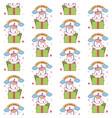 happy birthday unicorn gift seamless pattern vector image vector image
