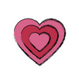 heart love symbol vector image