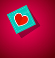 Heart on Paper Blue Paper on Pink Background vector image vector image