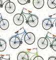 hipster bike patern saren vector image