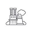 industrial complex line icon concept industrial vector image