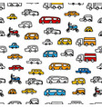 kids pattern with cars colorful seamless vector image vector image