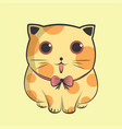 lovely big kitten cute cat vector image vector image