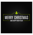 merry christmas event sign on black background vector image vector image
