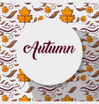 natural autumn weather season leaves background vector image