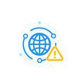 network alert warning icon vector image vector image