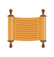 paper roll jewish icon flat style vector image vector image