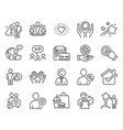 people icons set included icon as safe planet vector image vector image