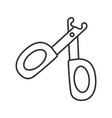 pet nail clippers linear icon vector image