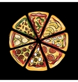 Pizza sketch for your design vector image vector image
