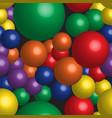 rainbow balls seamless pattern vector image vector image