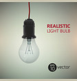 realistic electric bulb background vector image vector image
