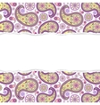 seamless paisley pattern with torn paper vector image vector image