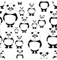 seamless pattern Panda bear vector image