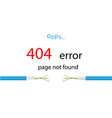 service message on the site error 404 - page not vector image vector image