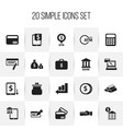 set of 20 editable investment icons includes vector image vector image