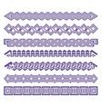 set of strip patterns purple ornament color can vector image vector image