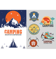 Set of vintage outdoor camp badges logo vector image